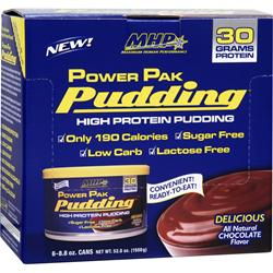 MHP Power Pak Pudding Chocolate 6 cans