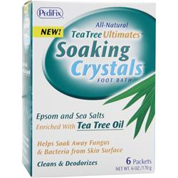 PEDIFIX Tea Tree Ultimates - Soaking Crystals Foot Bath 6 pckts