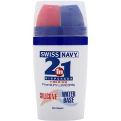 Md Science Labs Swiss Navy - 2-in-1 Dispenser Premium Lubricants - Silicone and Water Base Silicone / Water Base 50 mL