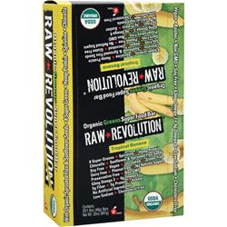 RAW INDULGENCE Raw Revolution - Organic Greens SuperFood Bar Apple Cinnamon 20 bars