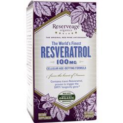 Reserveage Organics Resveratrol (100mg) 60 vcaps