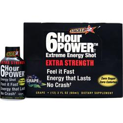 NVE PHARMACEUTICALS Stacker 2 - 6 Hour Power Extreme Extra Strength Grape 12 bttls
