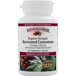 Natural Factors ResveratrolRich - Regular Strength Resveratrol Concentrate 60 vcaps