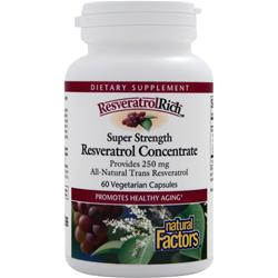 NATURAL FACTORS ResveratrolRich - Super Strength Resveratrol Concentrate 60 vcaps