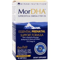 Minami Nutrition MorDHA Essential Prenatal Support Formula Lemon Flavor 30 sgels