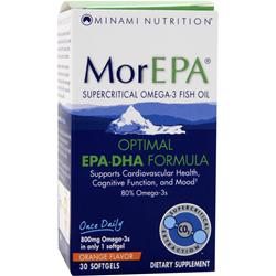 Minami Nutrition MorEPA Optimal EPA-DHA Formula Orange Flavor 30 sgels