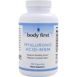 BODY FIRST Hyaluronic Acid + MSM 240 caps