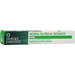 DESERT ESSENCE Natural Tea Tree Oil Toothpaste Fennel 6.25 oz