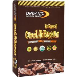 ORGANIC FOOD BAR Kids Bar - Keerunch! Chocolate Brownie 12 bars