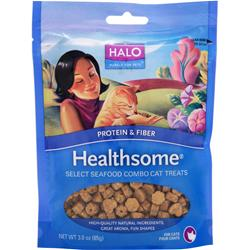 HALO Healthsome Cat Treats - Protein & Fiber Select Seafood Combo 3 oz