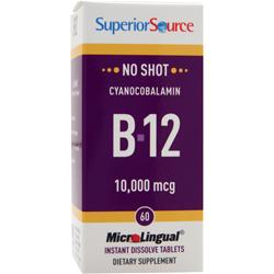 Superior Source MicroLingual No Shot Cyanocobalamin B-12 (10,000mcg) 60 tabs
