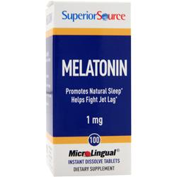 SUPERIOR SOURCE Melatonin (1mg) 100 tabs