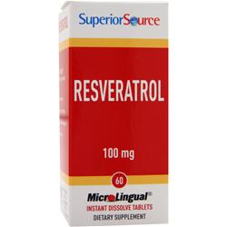 SUPERIOR SOURCE Resveratrol (100mg) 60 tabs