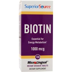 Superior Source Biotin (1000mcg) 100 tabs