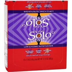 SOLO GI Low Glycemic Nutrition Bar Berry Bliss 12 bars