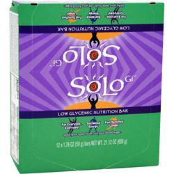SOLO GI Low Glycemic Nutrition Bar Mint Mania 12 bars