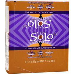 Solo GI Low Glycemic Nutrition Bar Peanut Power 12 bars