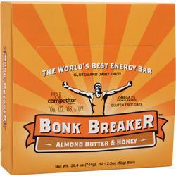 BONK BREAKER The World's Best Energy Bar Almond Butter & Honey 12 bars