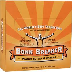 BONK BREAKER The World's Best Energy Bar Peanut Butter & Banana 12 bars