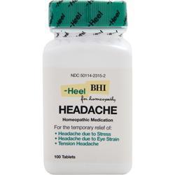 Heel BHI - Headache 100 tabs