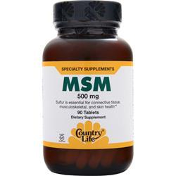 Country Life MSM (500mg) 90 tabs