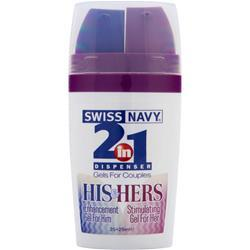 MD SCIENCE LABS Swiss Navy - 2-in-1 Dispenser Gels for Couples 50 mL
