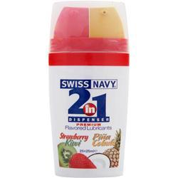 MD SCIENCE LABS Swiss Navy - 2-in-1 Dispenser Premium Flavored Lubricants StrawberryKiwi/PinaColada 50 mL