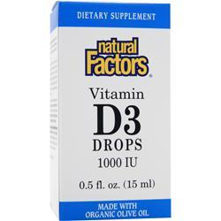 Natural Factors Vitamin D3 Drops (1000IU) .5 fl.oz