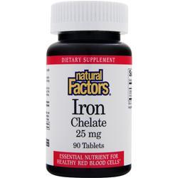 Natural Factors Iron Chelate (25mg) 90 tabs