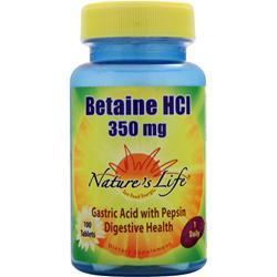 NATURE'S LIFE Betaine HCl (350mg) 100 tabs