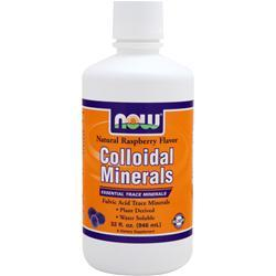 Now Colloidal Minerals - Essential Trace Minerals Natural Rasberry Flavor 32 oz