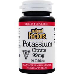 NATURAL FACTORS Potassium Citrate (99mg) 90 tabs