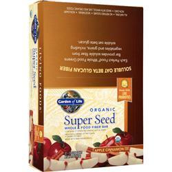 Garden Of Life Organic Super Seed Whole Food Fiber Bar Apple Cinnamon 12 bars