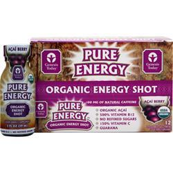 Genesis Today Pure Energy - Organic Energy Shot Acai Berry 12 bttls