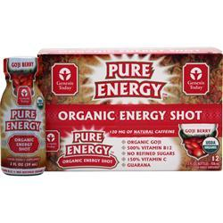GENESIS TODAY Pure Energy - Organic Energy Shot Goji Berry 12 bttls