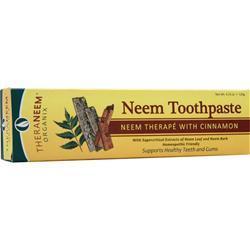 Theraneem Organix Neem Toothpaste Cinnamon 4.23 oz