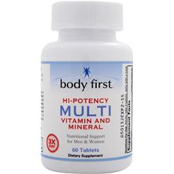 BODY FIRST Hi-Potency Multi - Vitamin and Mineral Best by 2/15 60 tabs