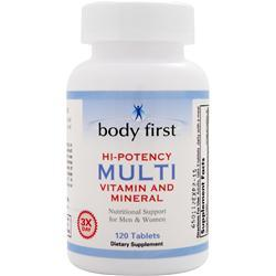BODY FIRST Hi-Potency Multi - Vitamin and Mineral 120 tabs
