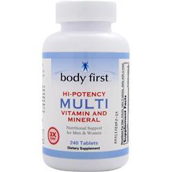 Body First Hi-Potency Multi - Vitamin and Mineral 240 tabs