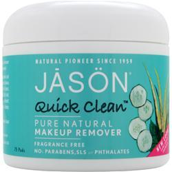 JASON Quick Clean Pure Natural Makeup Remover 75 pads
