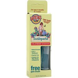 JASON Earth's Best Toothpaste Strawberry and Banana 1.6 oz
