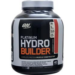 Optimum Nutrition Platinum Hydro Builder Strawberry Shake 4.59 lbs