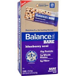 BALANCE BAR Balance Bare Bar Blueberry Acai 15 bars
