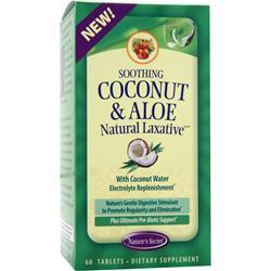 NATURE'S SECRET Soothing Coconut & Aloe - Natural Laxative 60 tabs