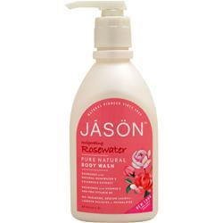 JASON Pure Natural Body Wash Invigorating Rosewater 30 fl.oz