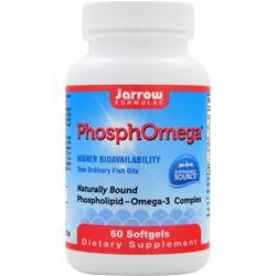 JARROW PhosphOmega Omega-3 Complex Best by 8/14 60 sgels