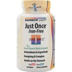 RAINBOW LIGHT Just Once - Iron Free 120 tabs
