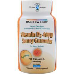 RAINBOW LIGHT Vitamin D Sunny Gummies (400IU) 60 unit