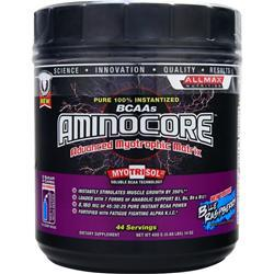 Allmax Nutrition Aminocore Powder Blue Raspberry 400 grams