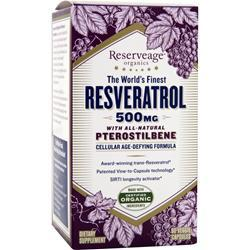 Reserveage Organics The World's Finest Resveratrol with Pterostilbene (500mg) 60 vcaps